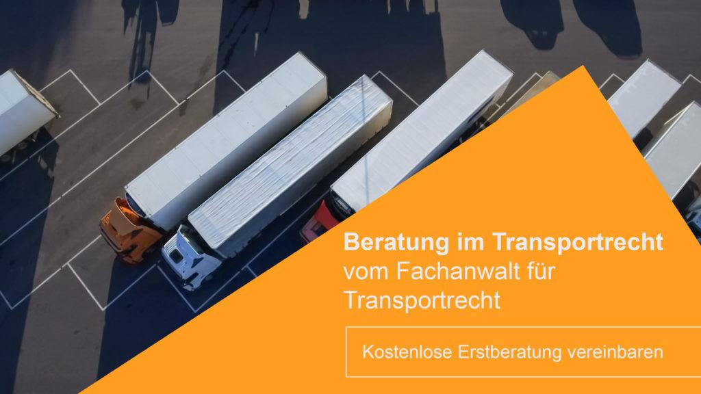 Rechtsanwalt Transportrecht Hamburg berät Spediteure im Transportrecht